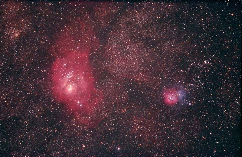 trifid and lagoon nebula - photo #46