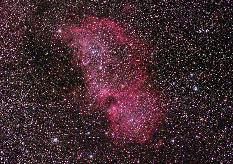 Heart Nebula, Soul Nebula, IC 1805 and IC1848