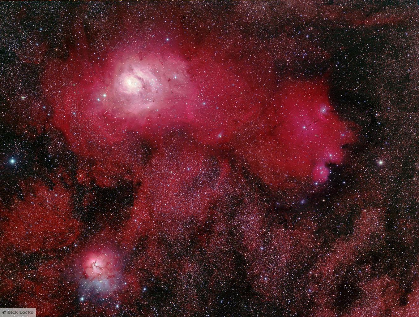 trifid and lagoon nebula - photo #35