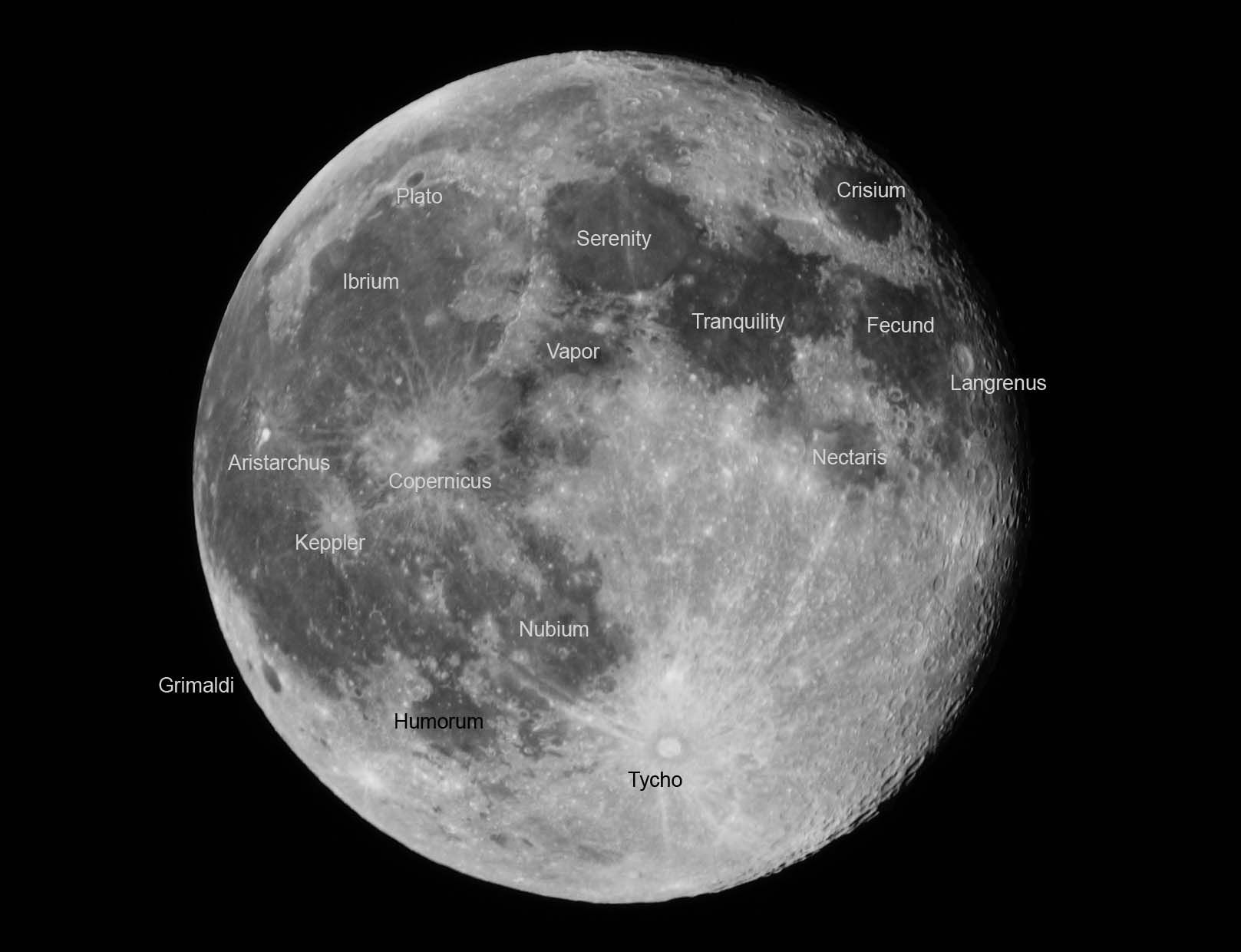 Full Moon Pictures  Labeled